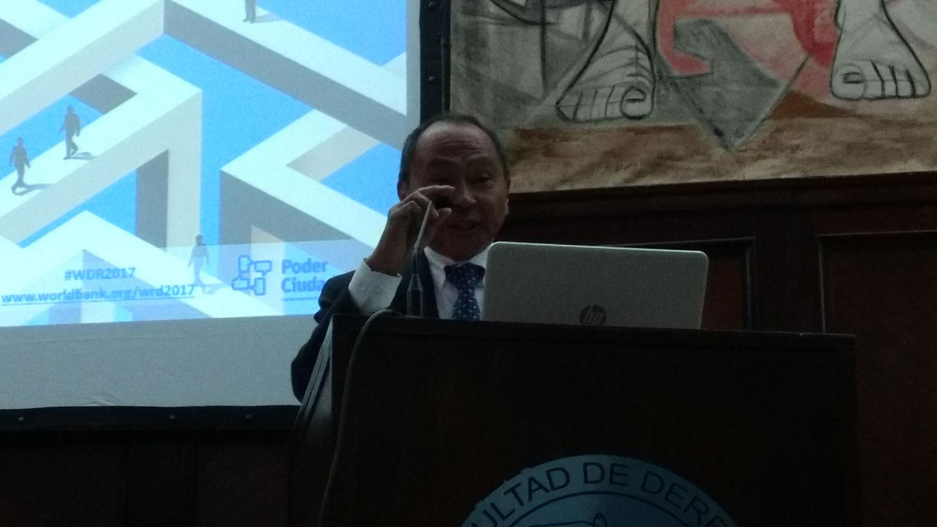 Francis Fukuyama en la Facultad de Derecho