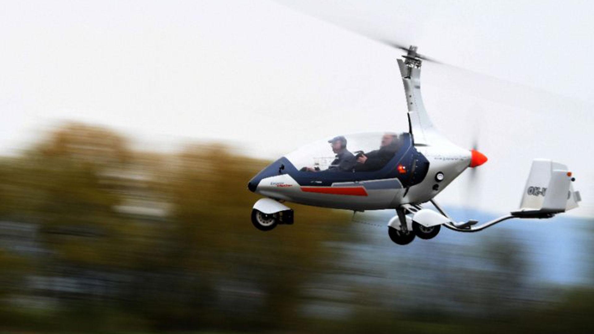 El GyroDrive en el aire
