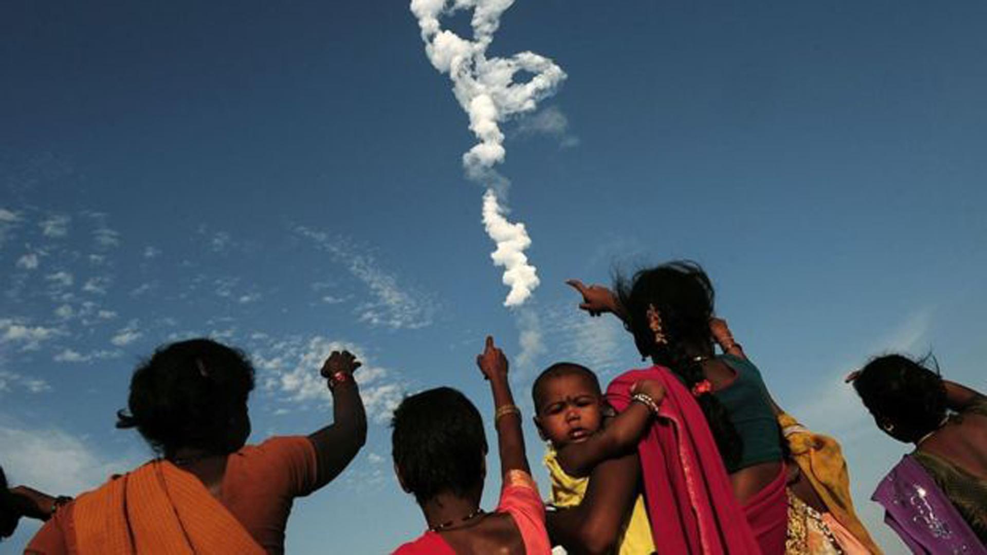 """India lanzó """"El Monstruo"""" al espacio el pasado 5 de junio (Getty)"""