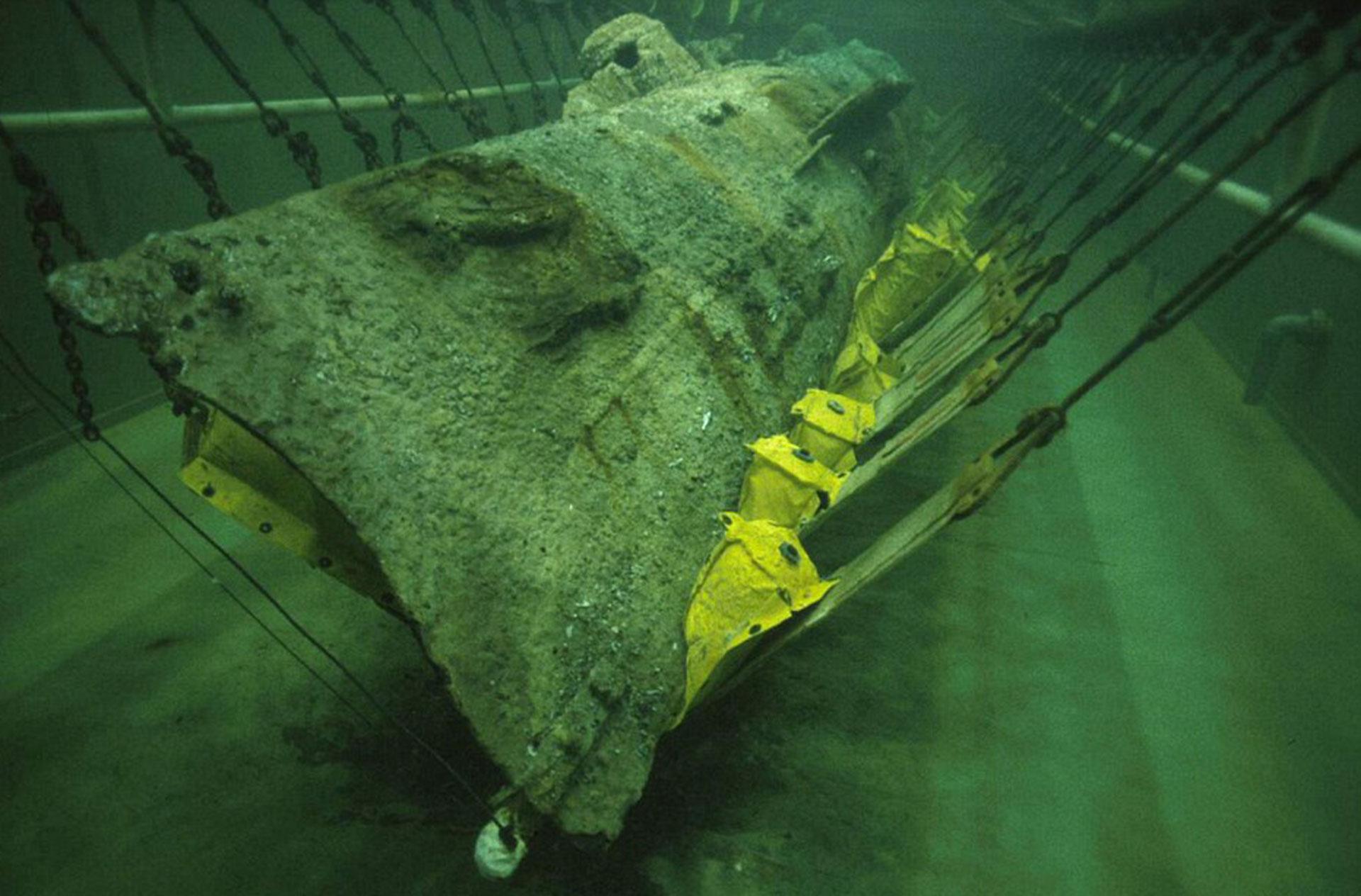 Los trabajos submarinos para rescatar el naufragio del Hunley, 136 años después (Getty)