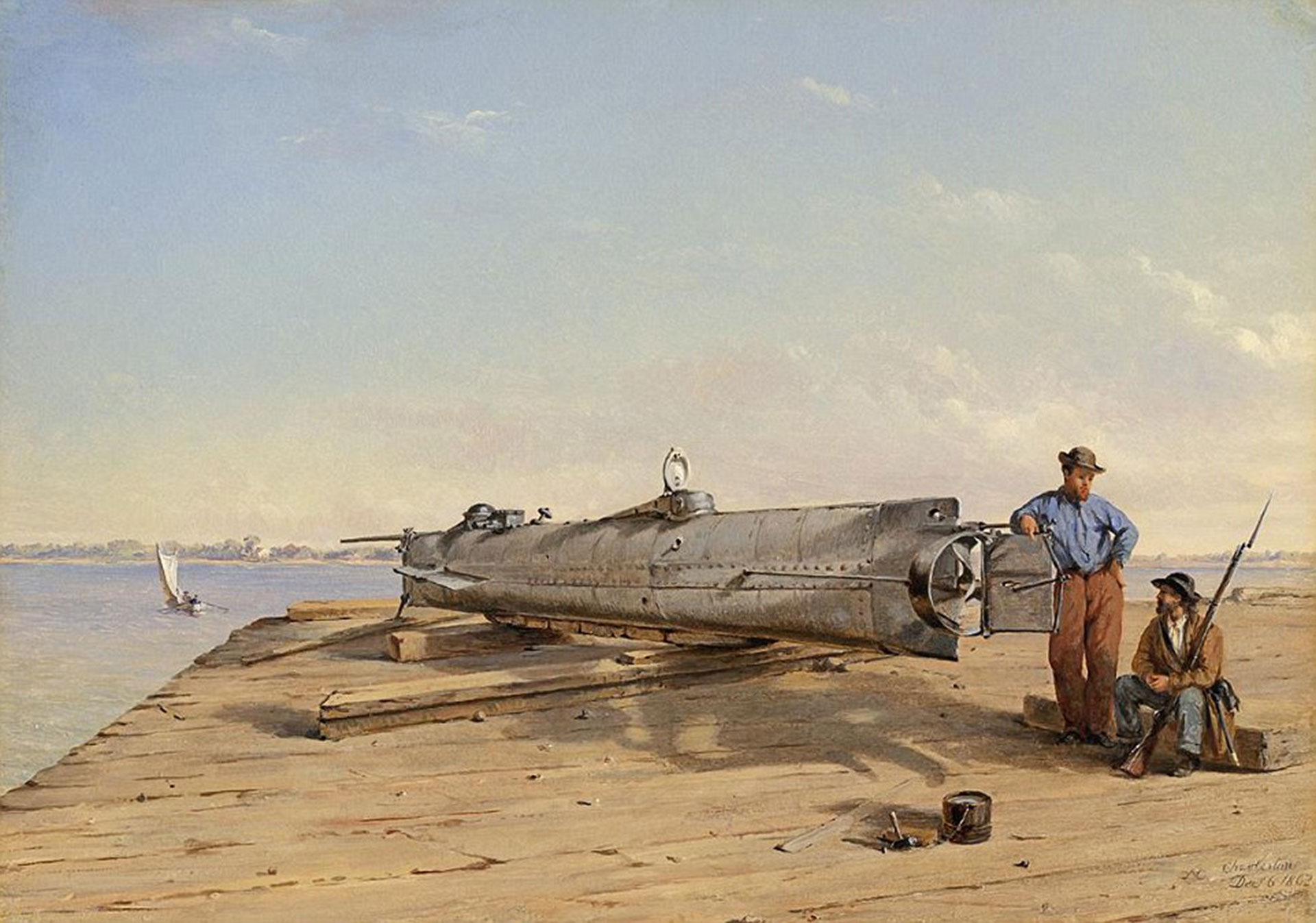 Una representación artística del submarino antes de ser botado (Daily Mail)