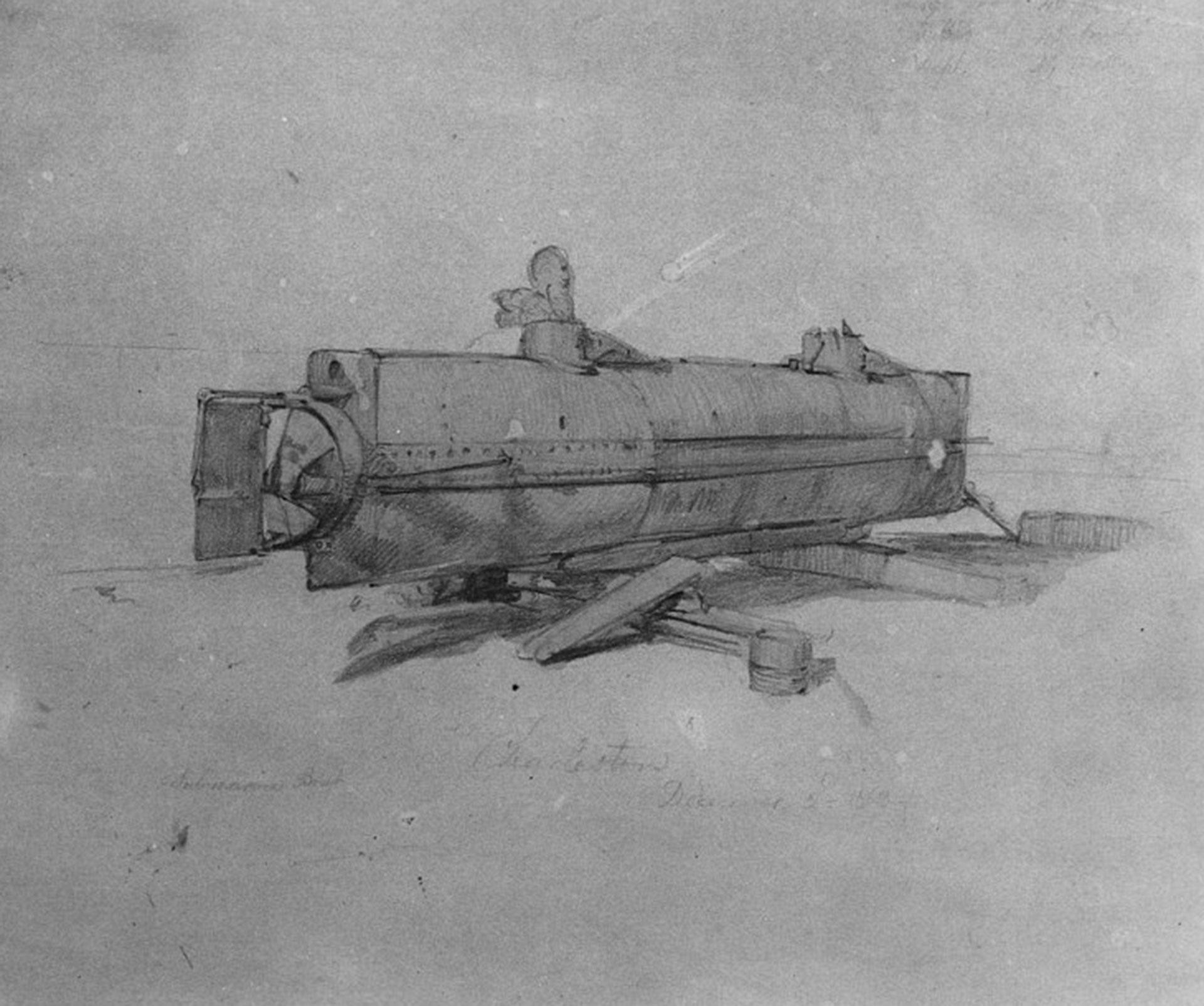 Un bosquejo utilizado en la construcción (Naval History and Heritage Command)
