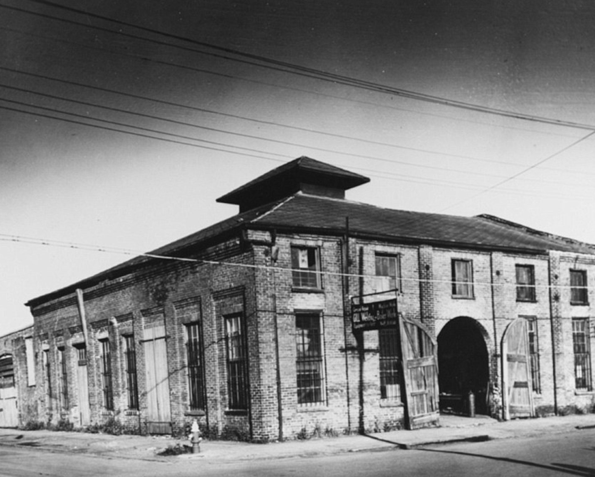 El taller Park and Lyons en Mobile, Alabama, donde se construyó el Hunley (Naval History and Heritage Command)