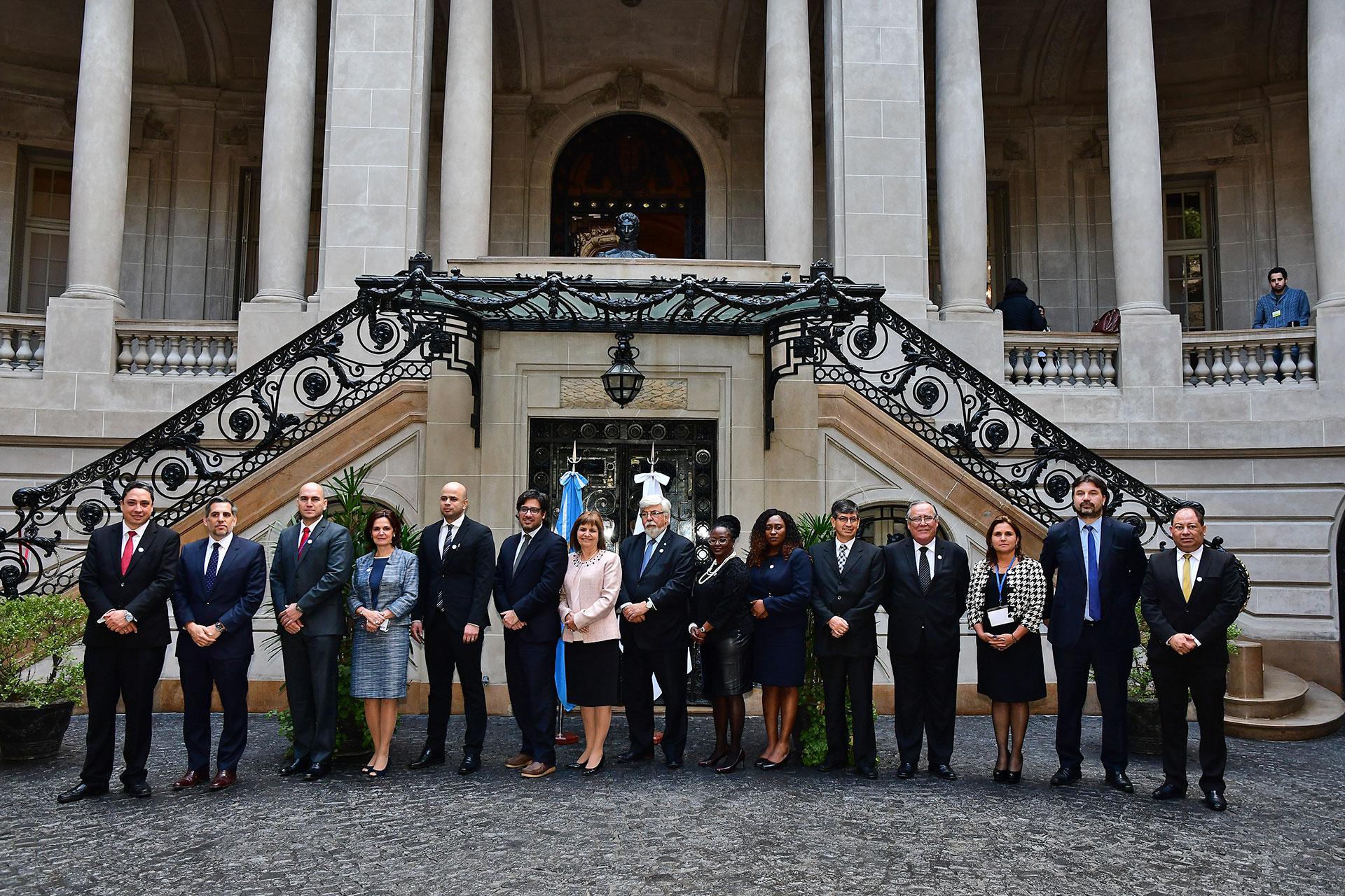 La cumbre de ministros de Seguridad y Justicia del Mercosur llegó a su fin en el Palacio San Martín