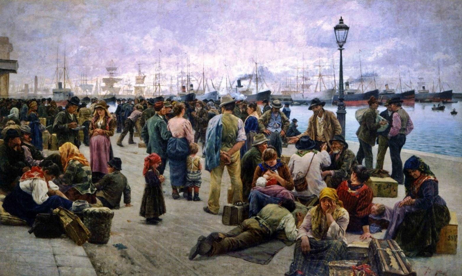 """""""Los emigrantes"""" (1895), obra de pintor italiano Angelo Tommasi"""