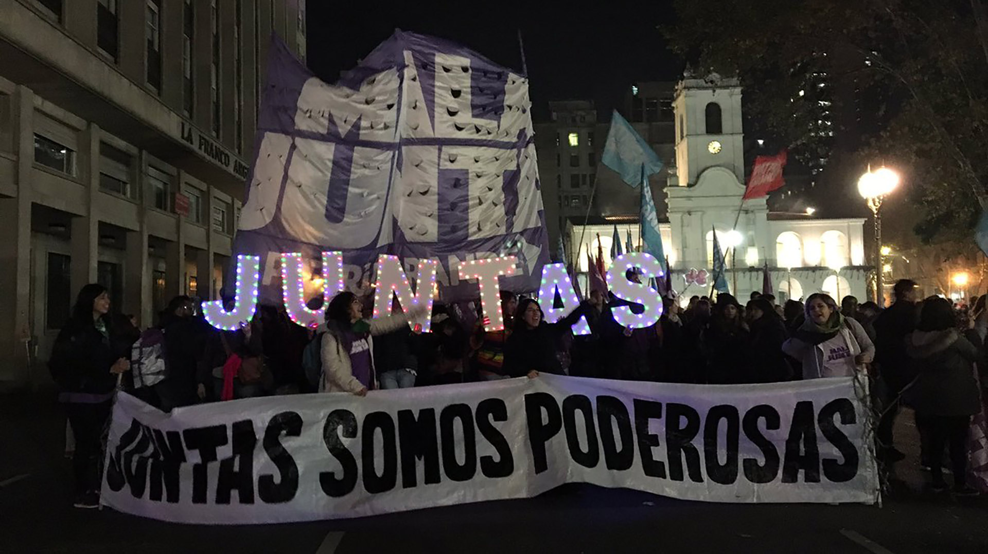 La última marcha #NiUnaMenos culminó con la lectura de un documento anarco-feminista