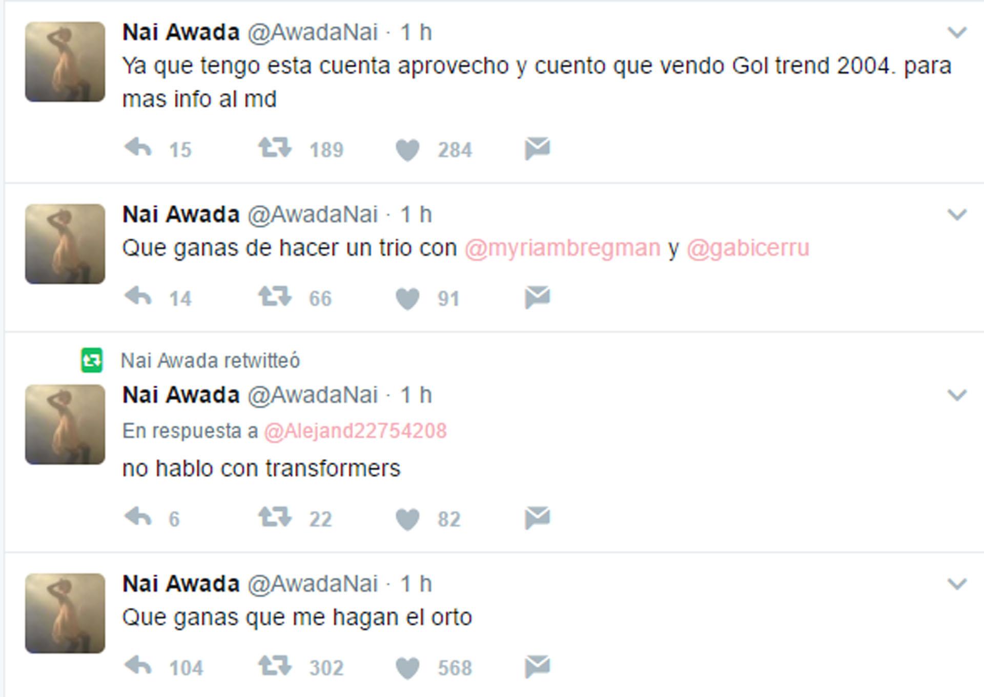 Más tuits de la cuenta que le hackearon a la participante del Bailando
