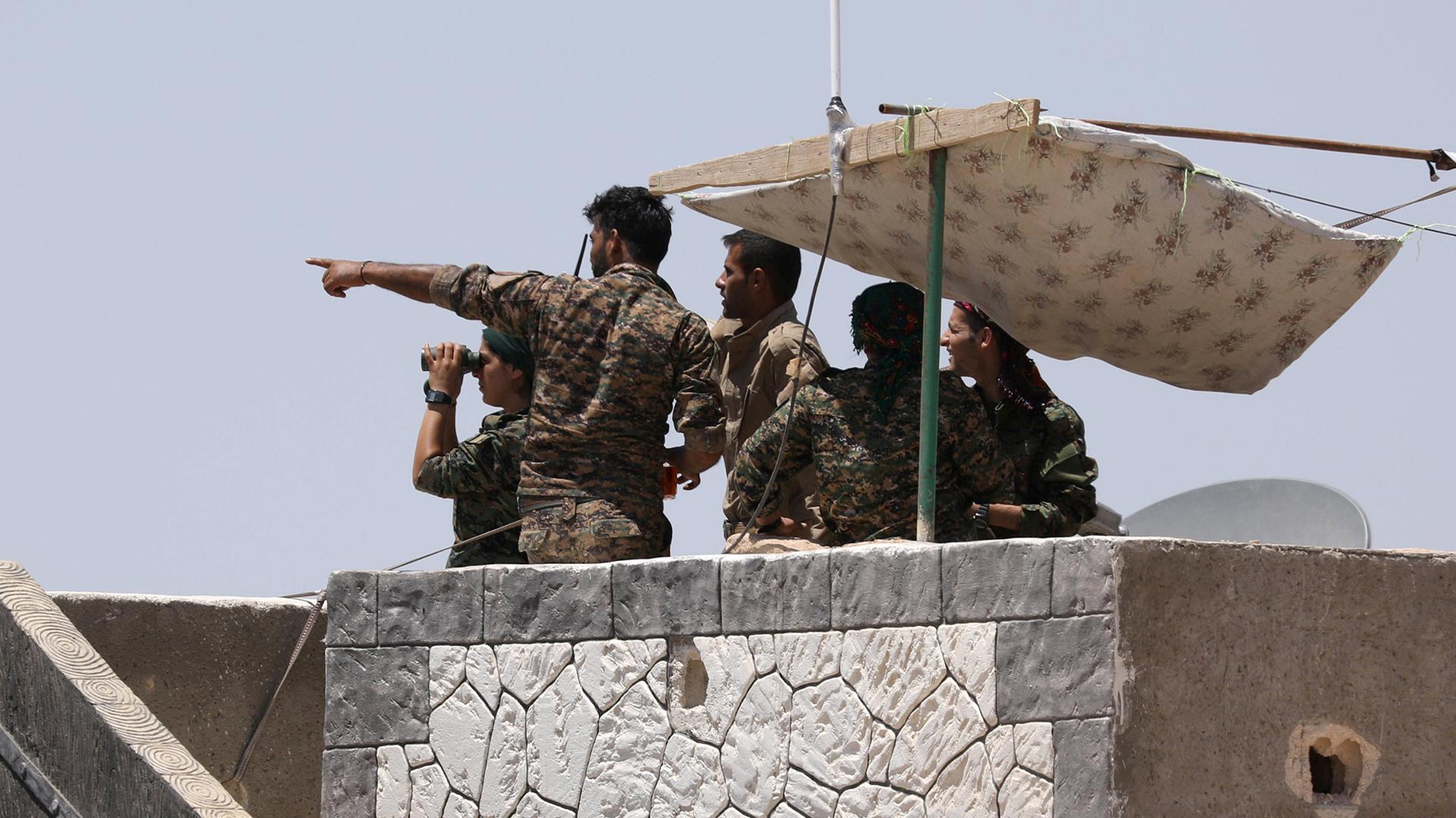 EEUU atacó el avión sirio tras el bombardeo del régimen a las Fuerzas Democráticas Sirias (Reuters)