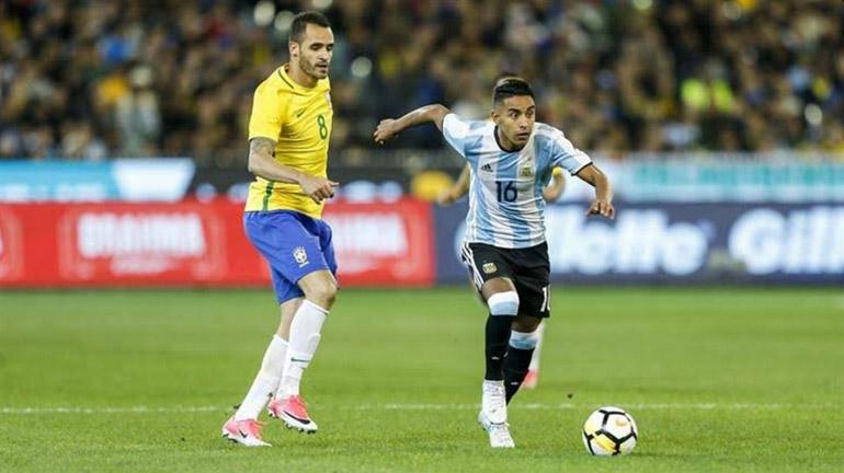 José Luis Gómez fue titular en la Selección en el inicio de la Era Sampaoli, ante Brasil, en un amistoso disputado en Melbourne