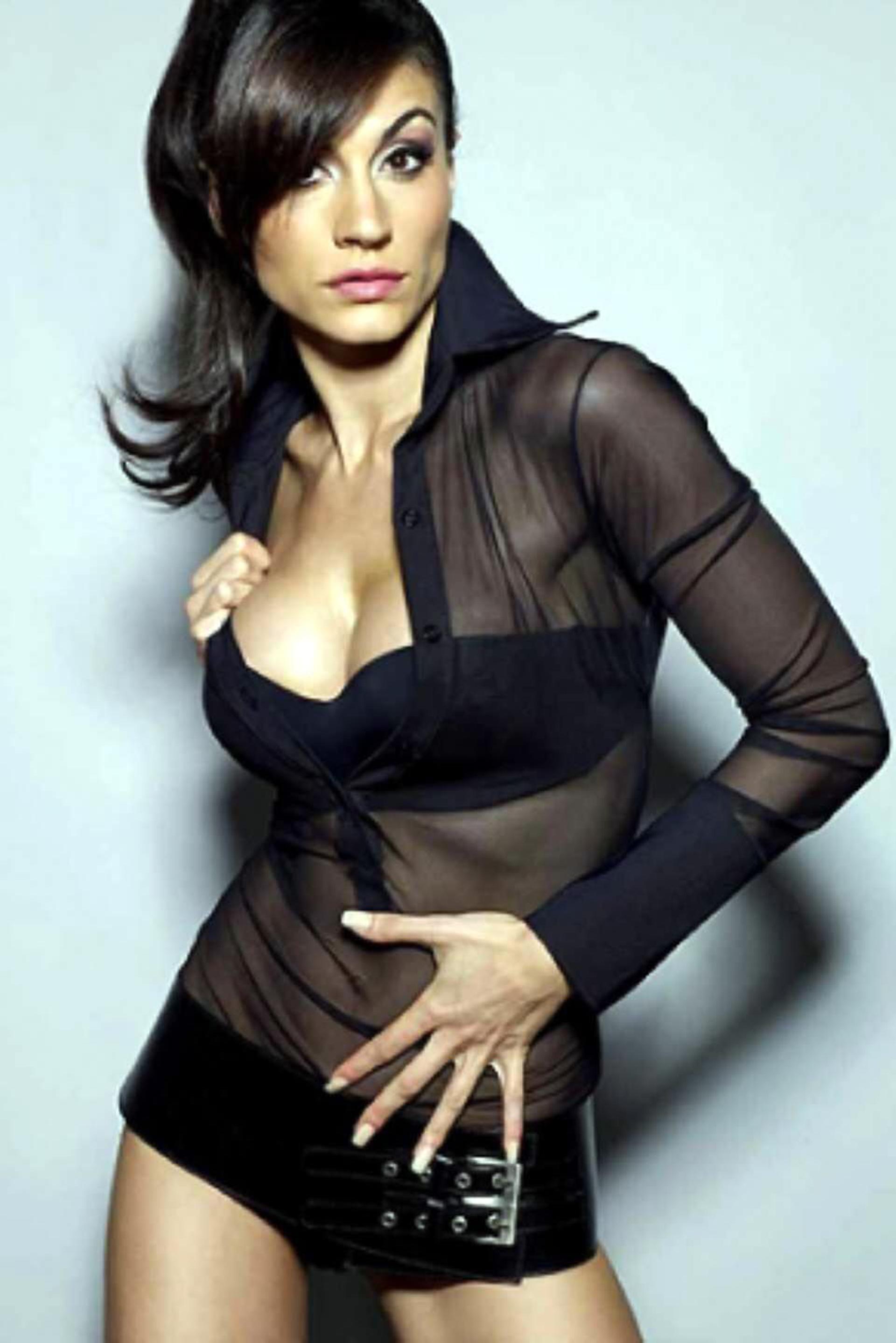 Natacha Jaitt en sus comienzos como modelo