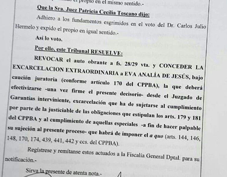 El expediente judicial fue divulgado por la periodista Marcela Ojeda