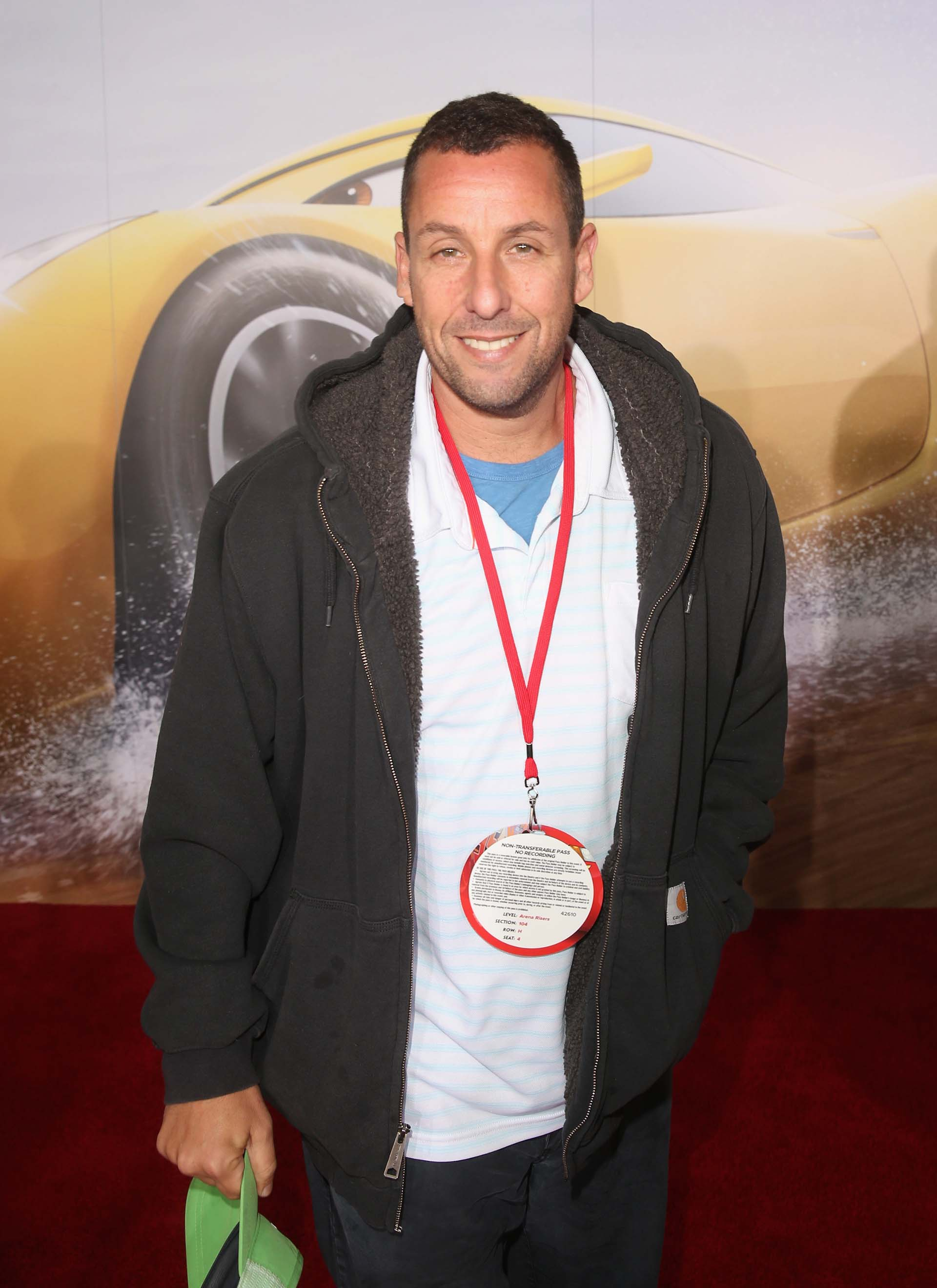 Adam Sandler a su llegada al Anaheim Convention Center, en California