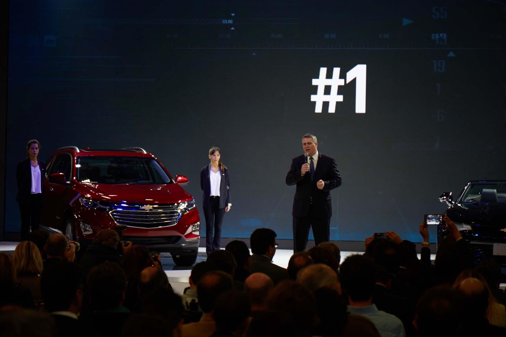 Carlos Zarlenga en la presentación de Chevrolet (GM)
