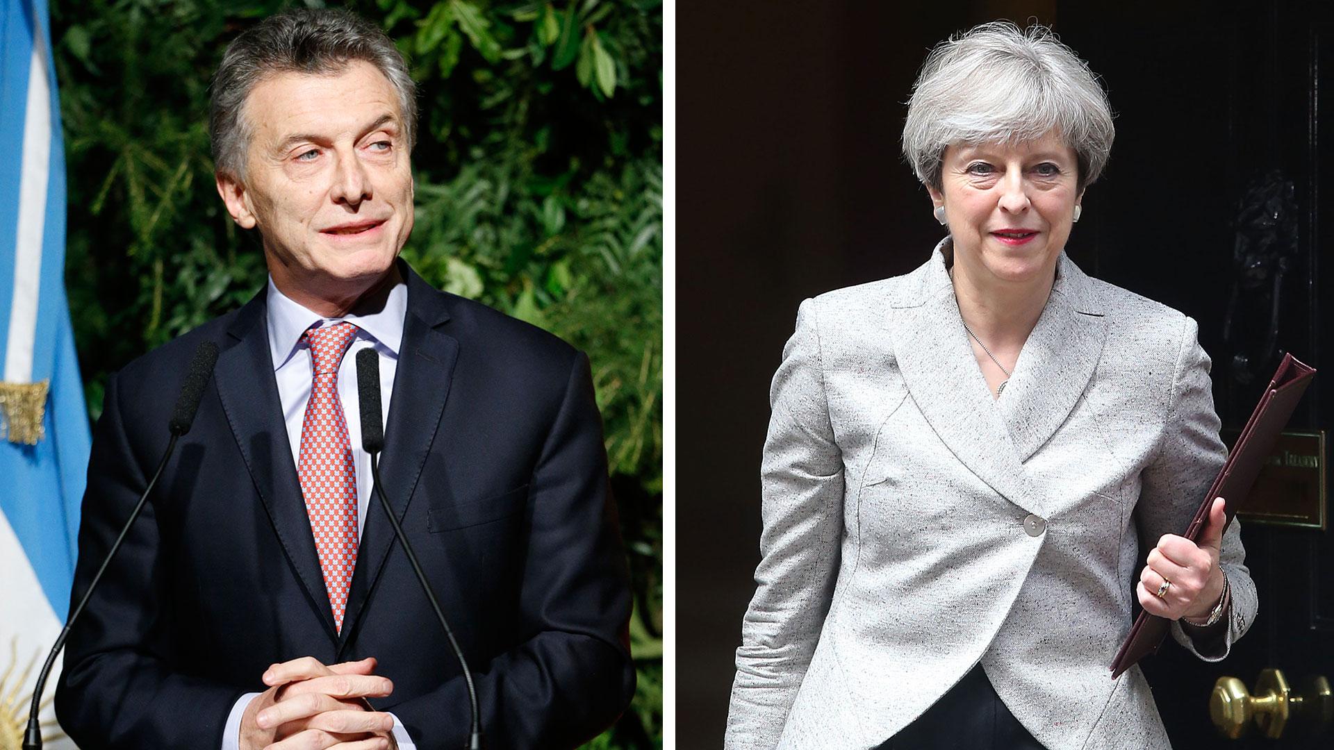 Mauricio Macri y Theresa May