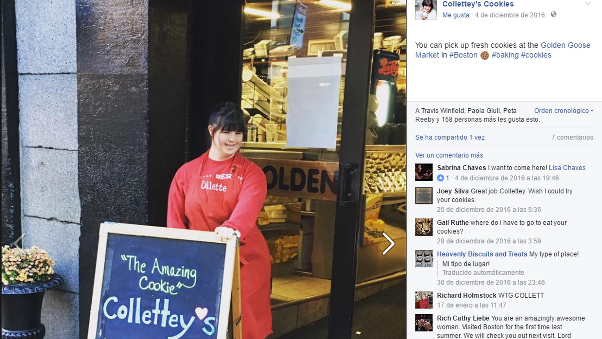 Su panadería se encuentra en Boston (Facebook Colette)