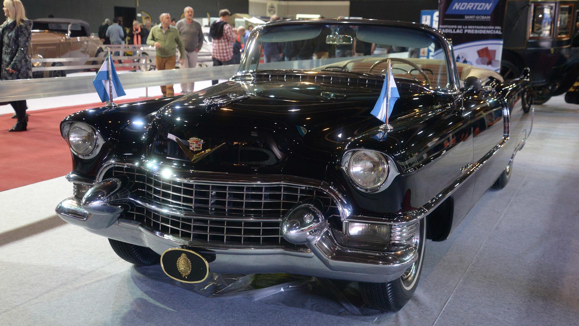 El Cadillac de Perón estuvo exhibido antes en el Salón del Automóvil de Buenos Aires(Enrique Abatte)