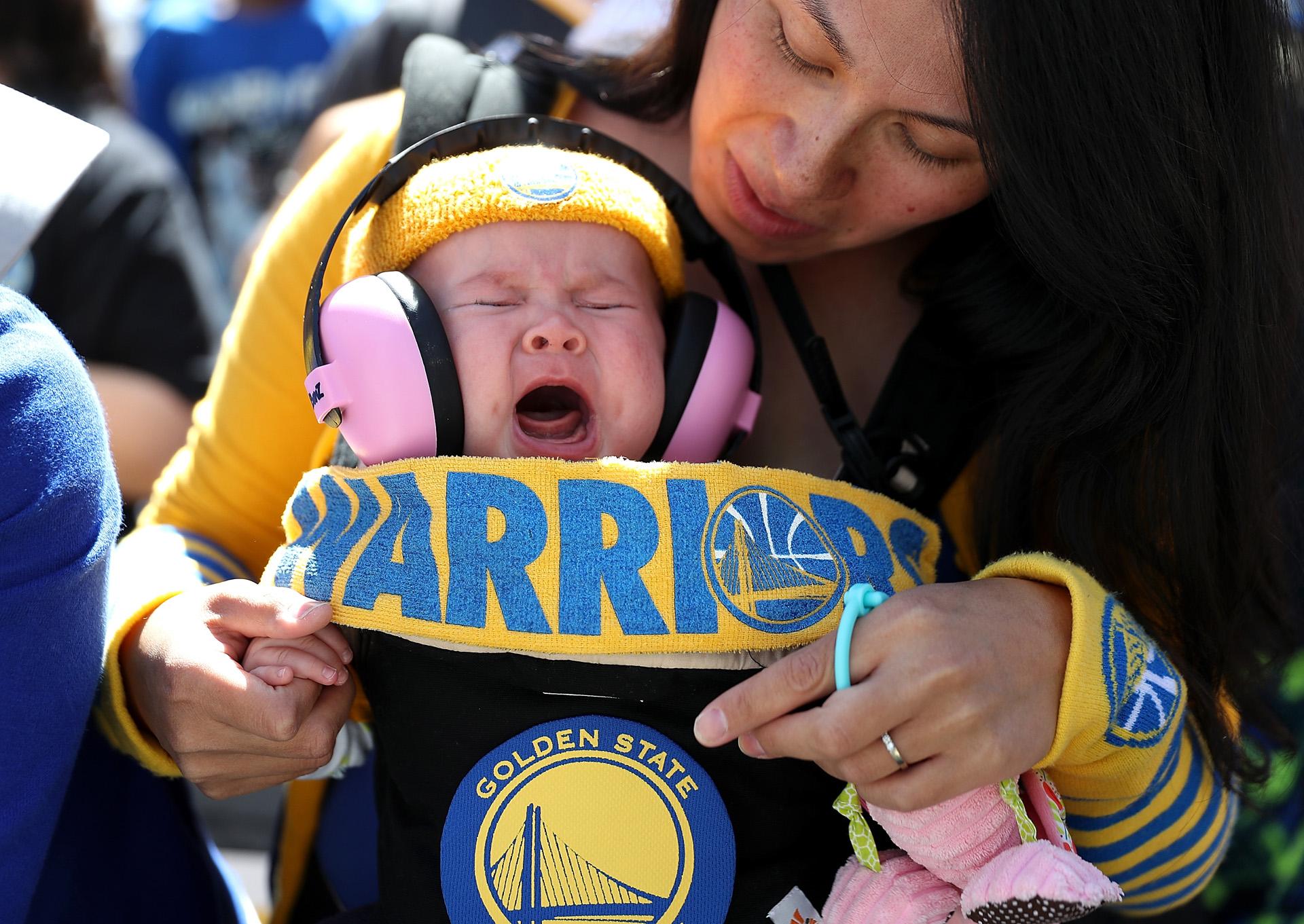 Este pequeño ya sabe lo que es ser campeón de la NBA