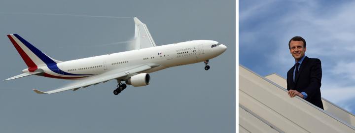 El recién asumido en Francia se traslada en un Airbus A330-200