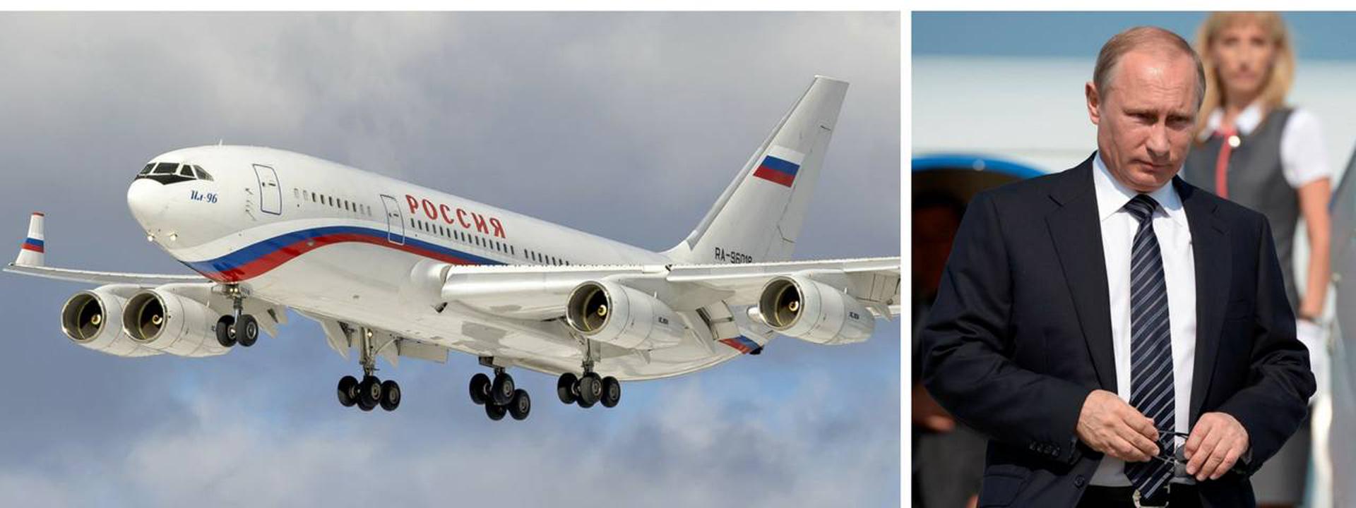 El presidente ruso viaja en un IL-96-300PU