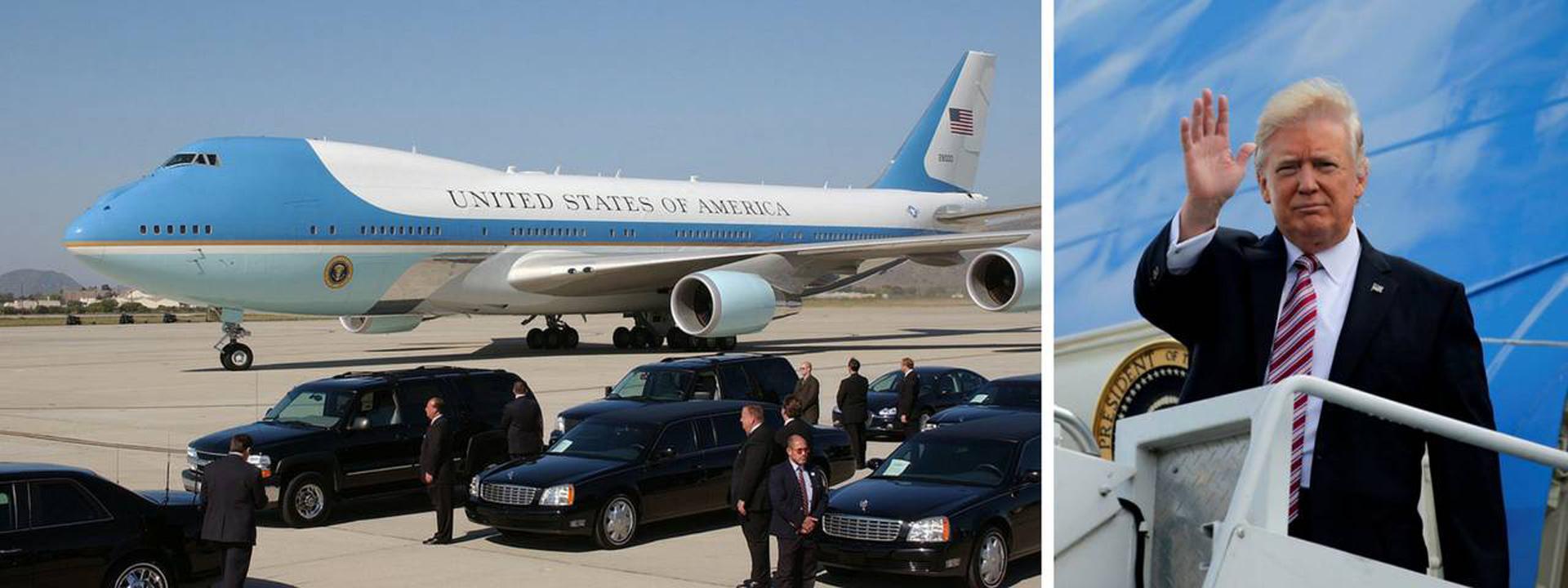 El Boeing 747 Air Force One de Donald Trump, presidente de los Estados Unidos