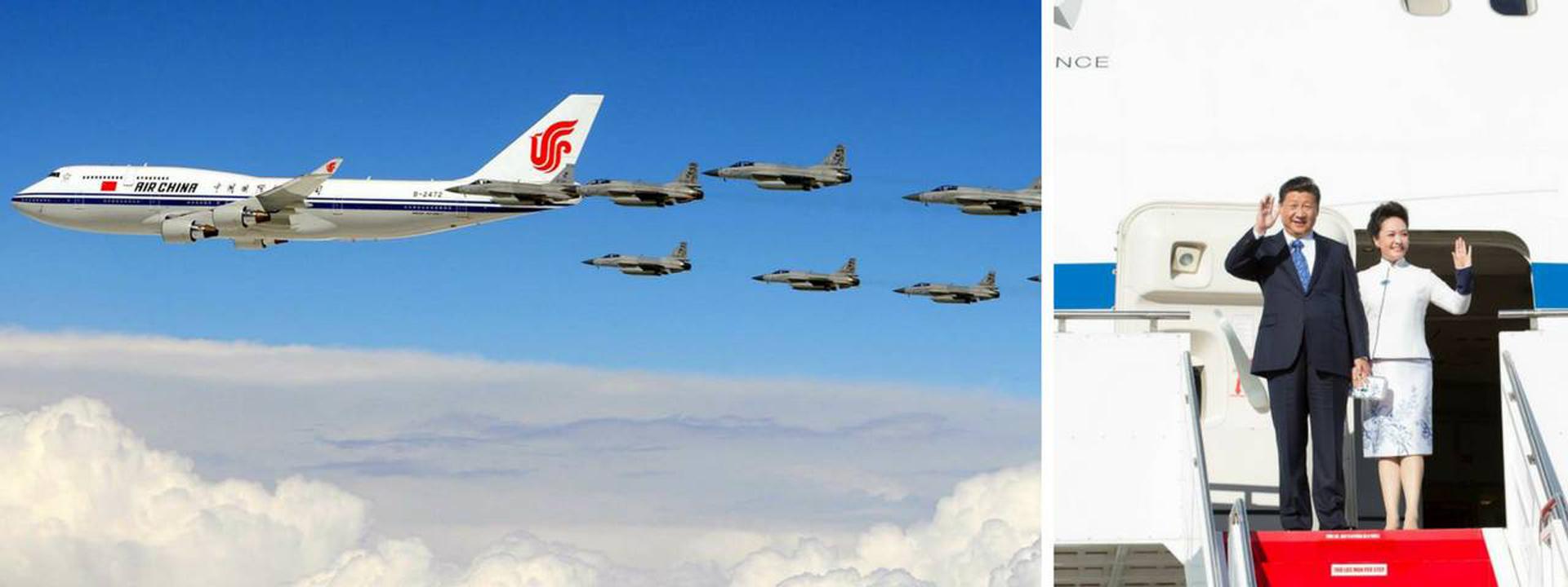 El presidente chino utiliza un Boeing 747 de la aerolínea estatal Air China cuando lo necesita