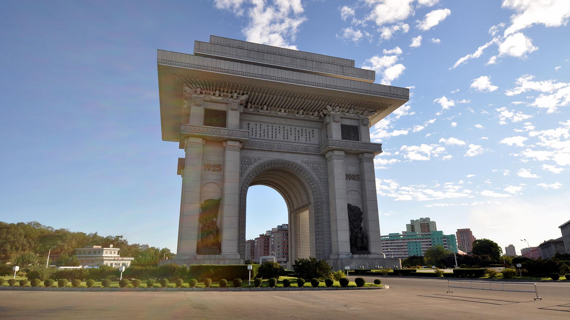 El Arco de Triunfo de Pyongyang, construido en conmemoración a la resistencia coreana a Japón