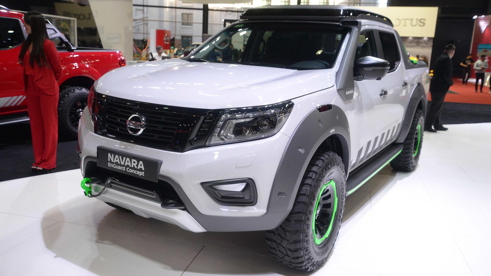 Nissan Enguard Concept. Este nuevo vehículo todoterreno está basado en la arquitectura devla popular pick- up Nissan NP300 Frontier y está diseñado para las condiciones más extremas. Se trata de un vehículo eléctrico de rescate para apoyar en misiones de emergencia