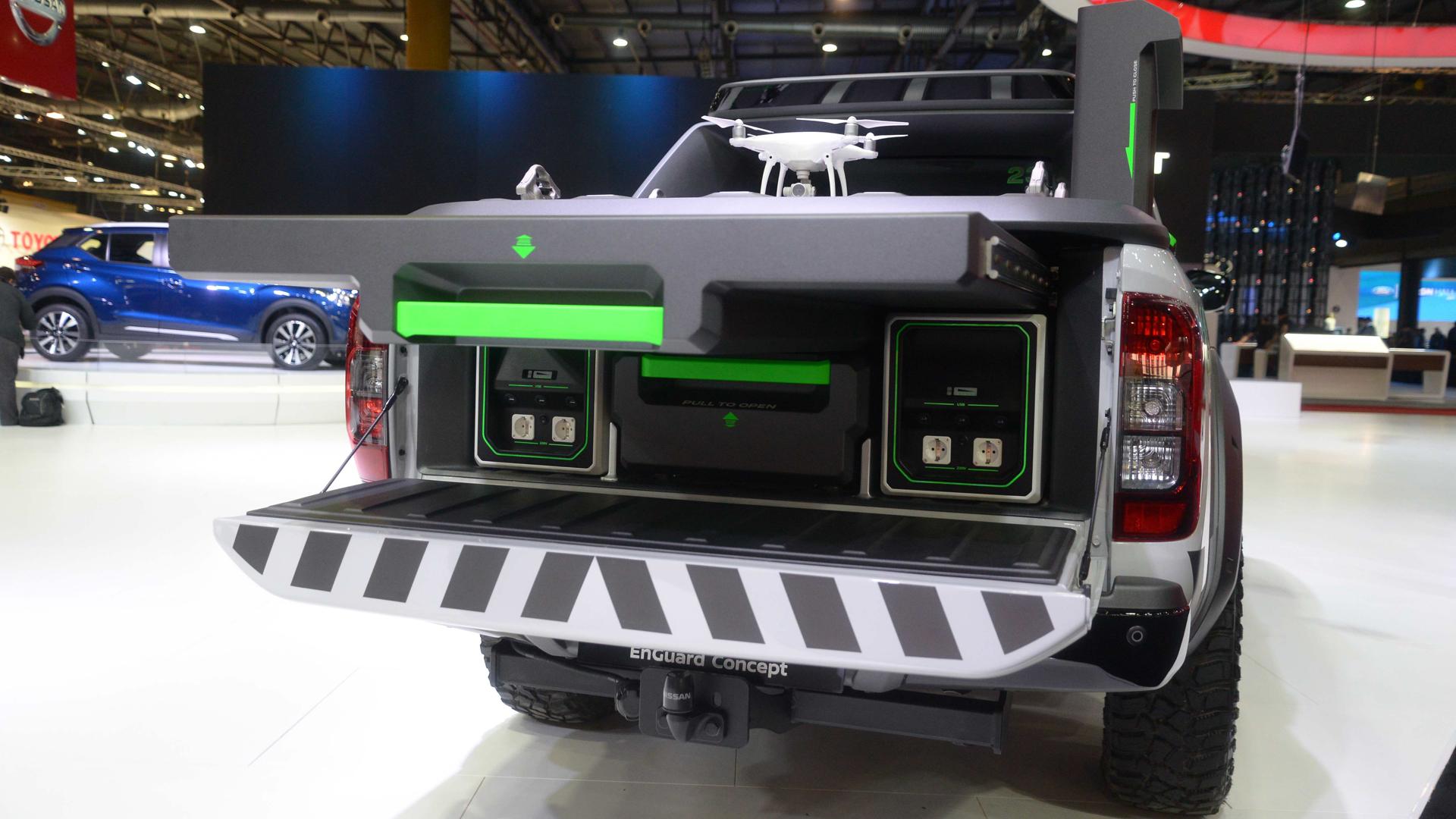 El prototipo monta un drone para monitorear las áreas de emergenciao catástrofes naturales (Enrique Abatte)