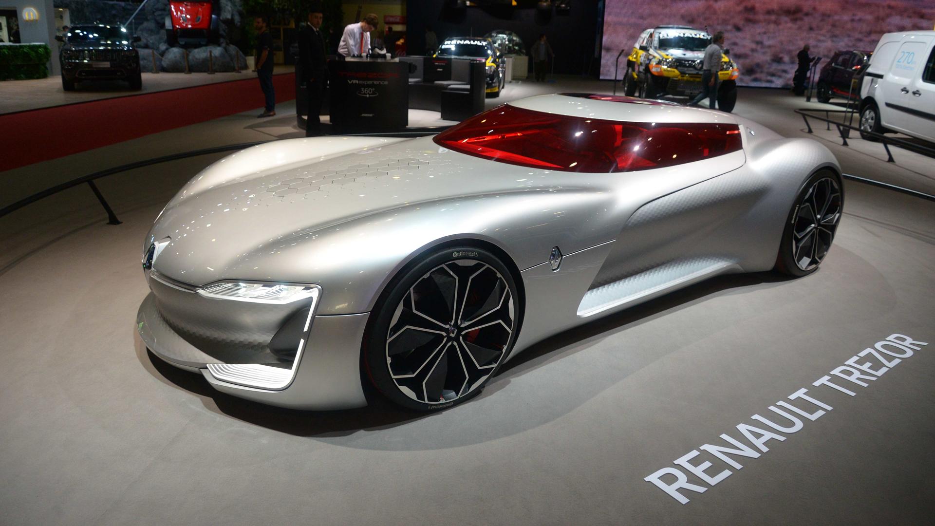 """El Renault Trezor que está en el Salón de Buenos Aires fue premiado como el mejor """"concept car"""" de 2016 (Enrique Abatte)"""