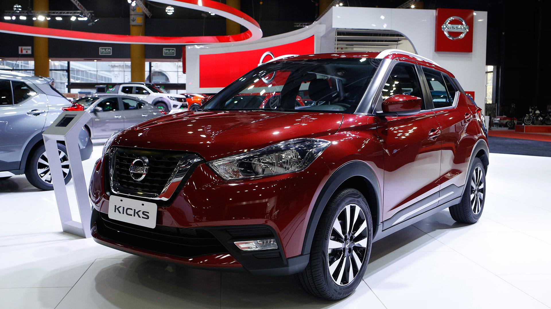 El nuevo Nissan Kicks, presentado durante el Salón, se encuentra expuesto en diferentes versiones y colores