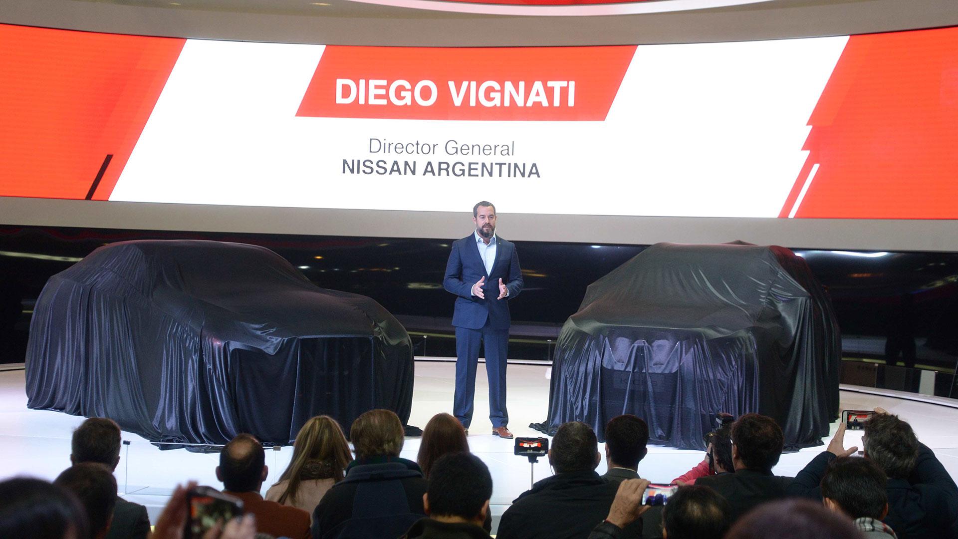 Diego Vignati, Director General de Nissan Argentina durante la conferencia de prensa de la marca el pasado 9 de junio