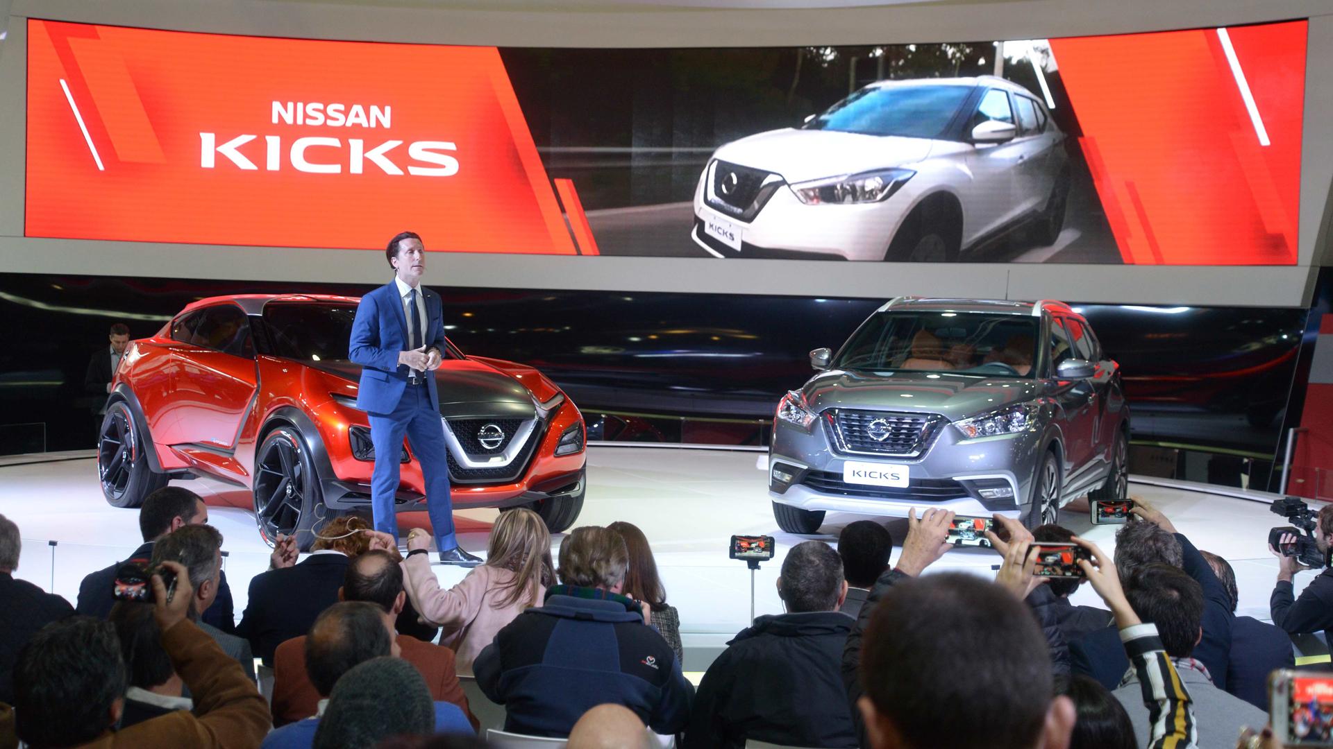 Alfonso Albaisa presentó las dos grandes atracciones de Nissan: el Gripz y el Kicks (Enrique Abatte)