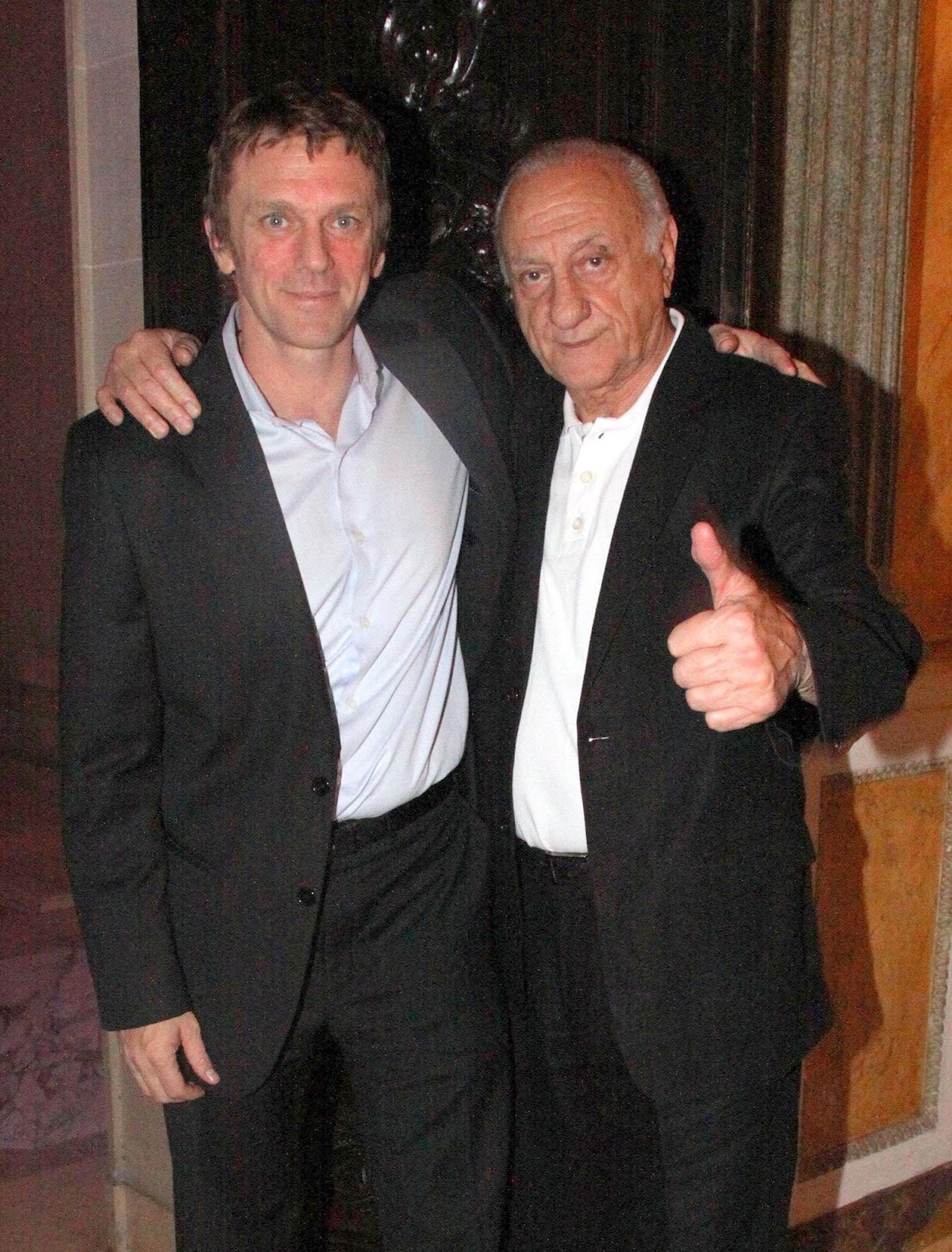 Federico D'Elía y su padre Jorge D'Elía
