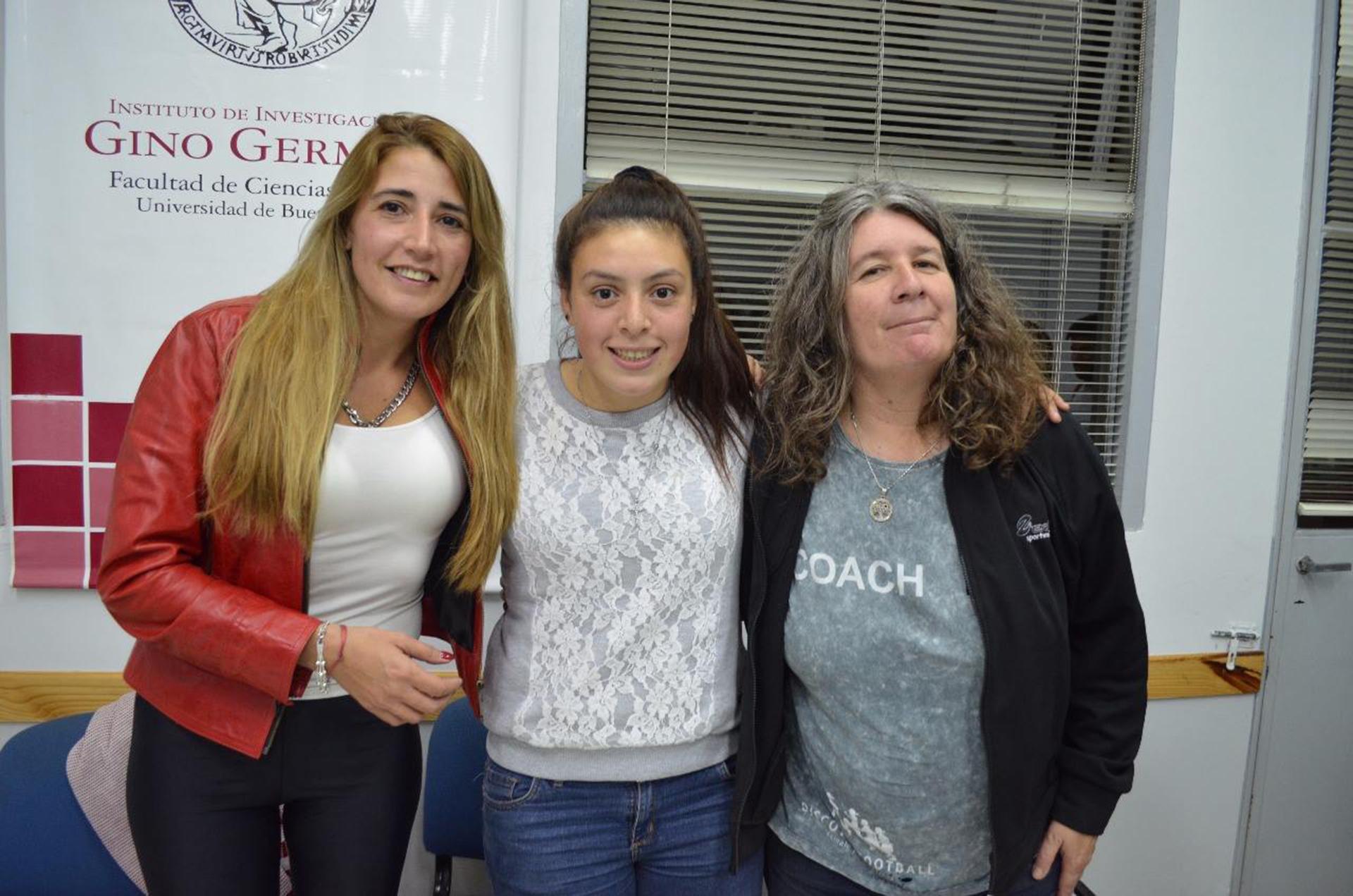 """Diana Paterno, Giselle """"Play"""" Piamonte y Mónica Santino (Coordinadora De Hinchas)"""