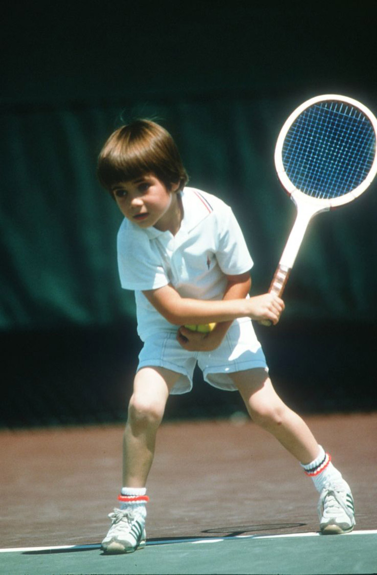 Andre Agassi a sus siete años