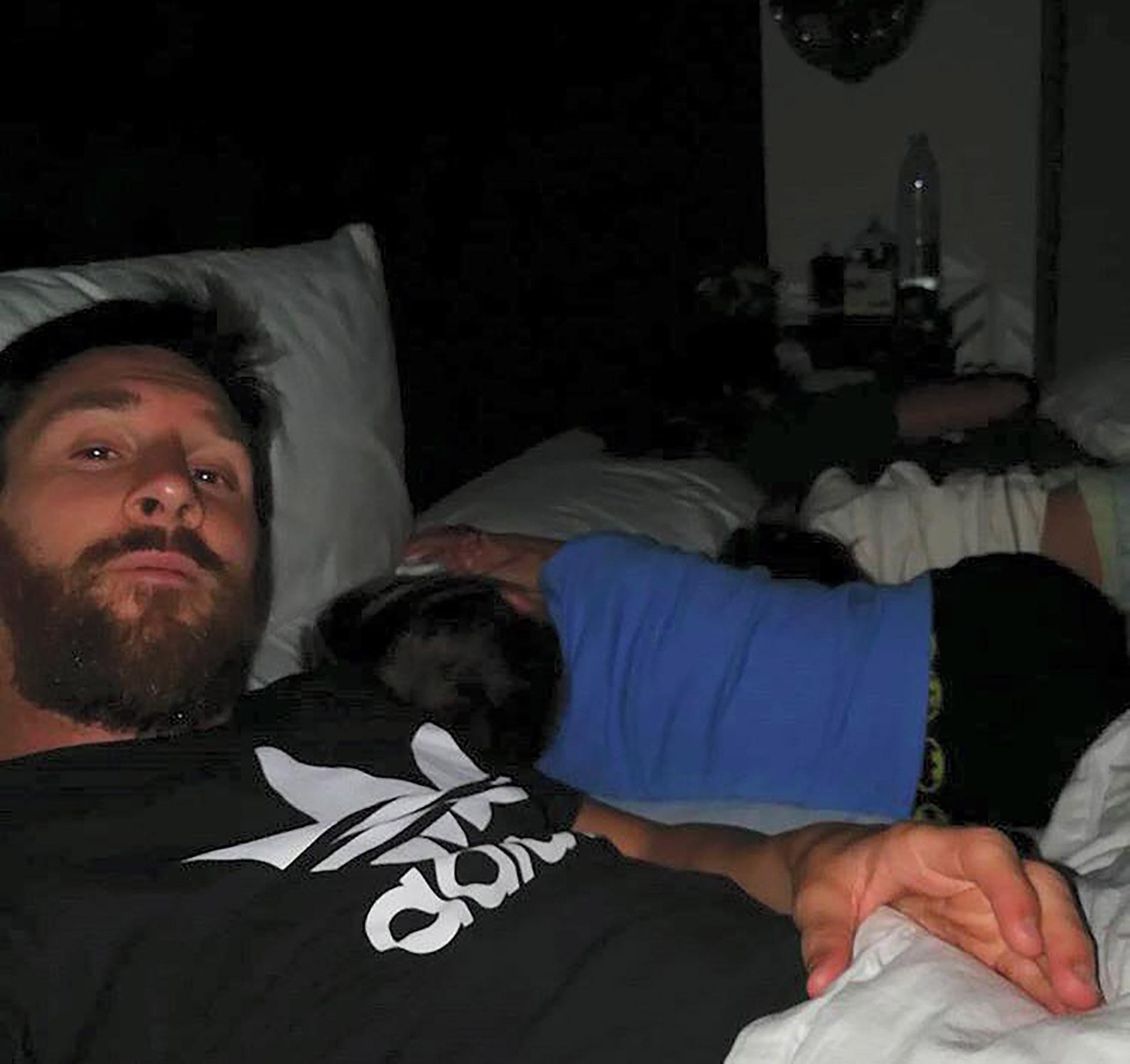 El crack desvelado, suele compartir tiernas fotos con sus pequeños durmiendo en su cuenta de Instagram (Leo Messi)