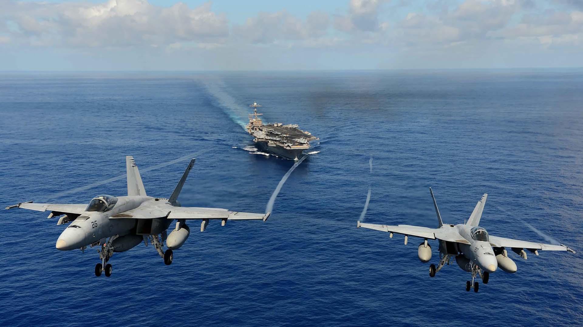 EEUU derribó el avión sirio con sus Super Hornet F/A-18E