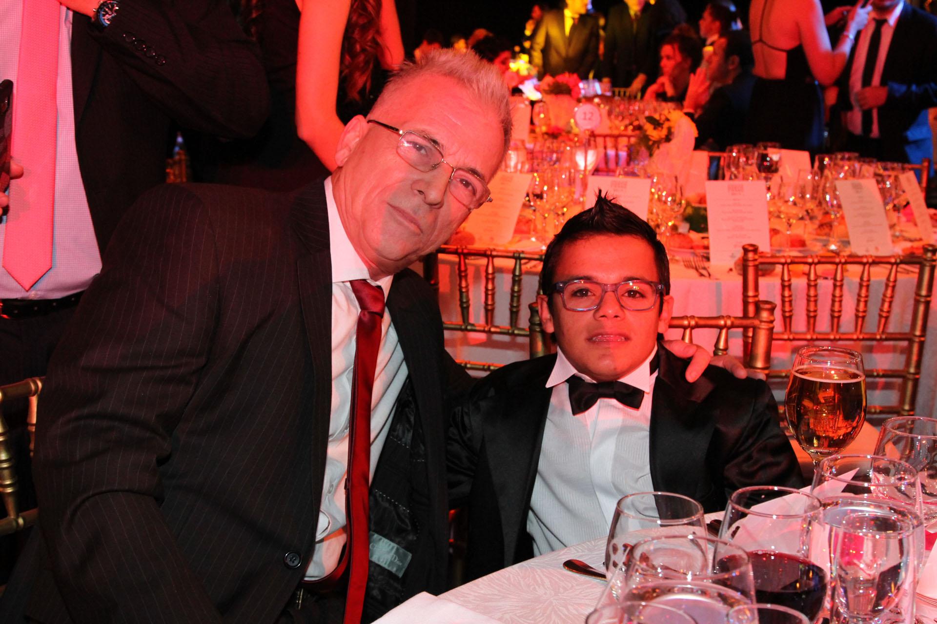 Gerardo Romano y Brian Buley, de El marginal