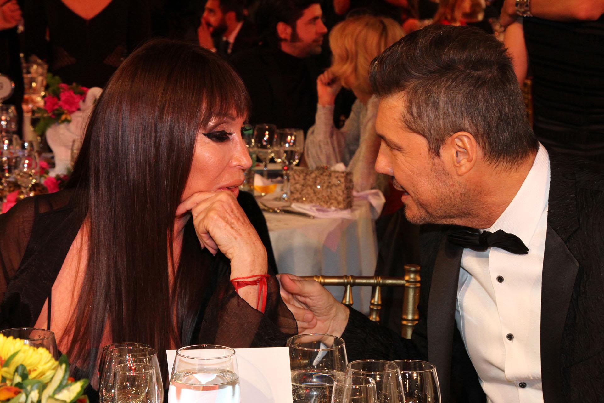 Marcelo Tinelli con Moria Casán