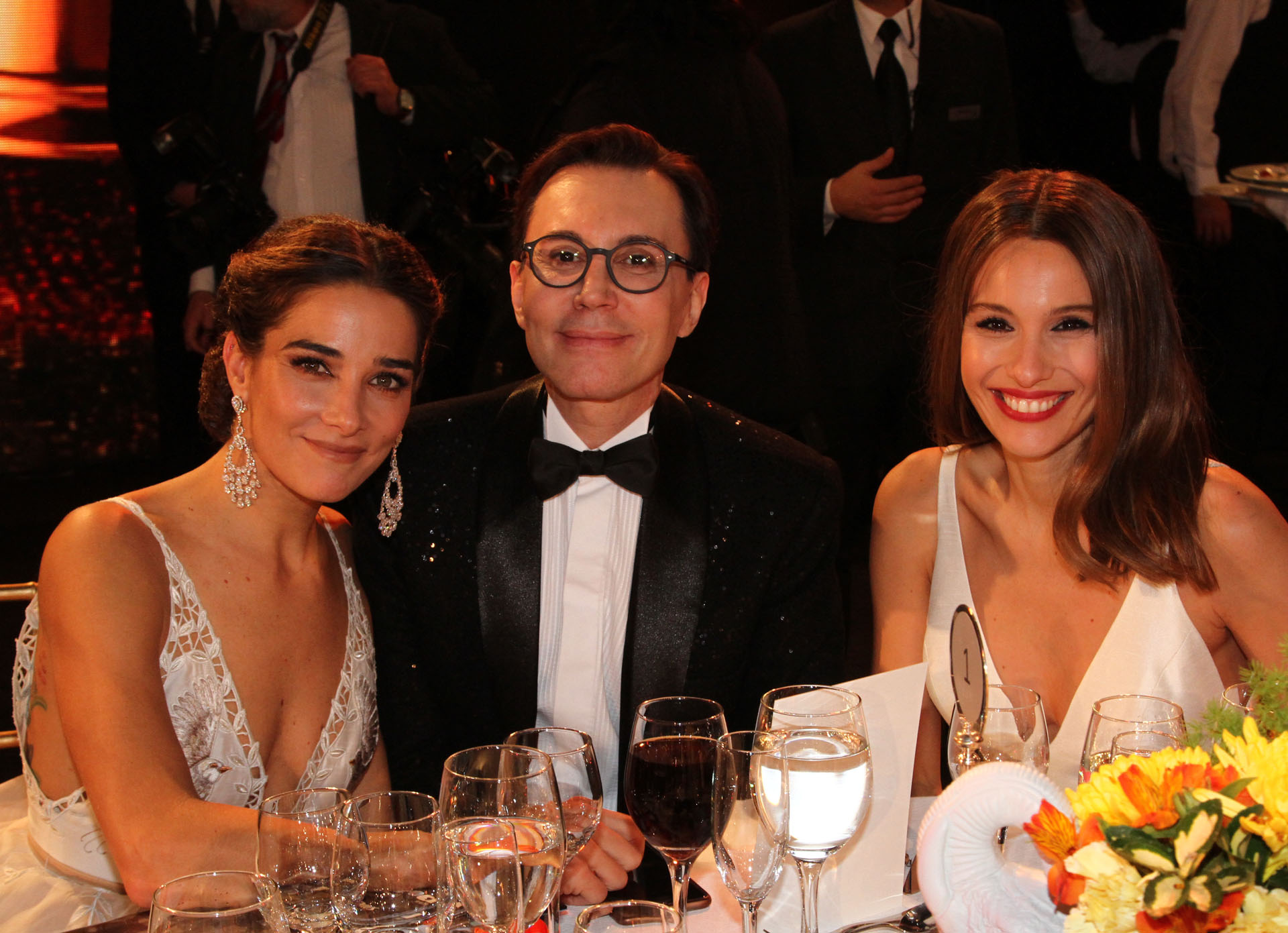 Juana Viale, Marcelo Polino y Pampita