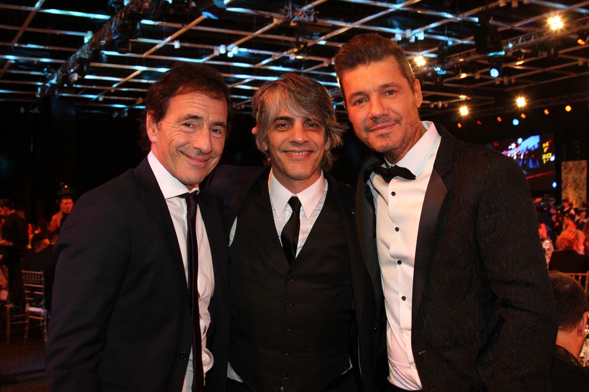 Martín Seefeld, Pablo Echarri y Marcelo Tinelli