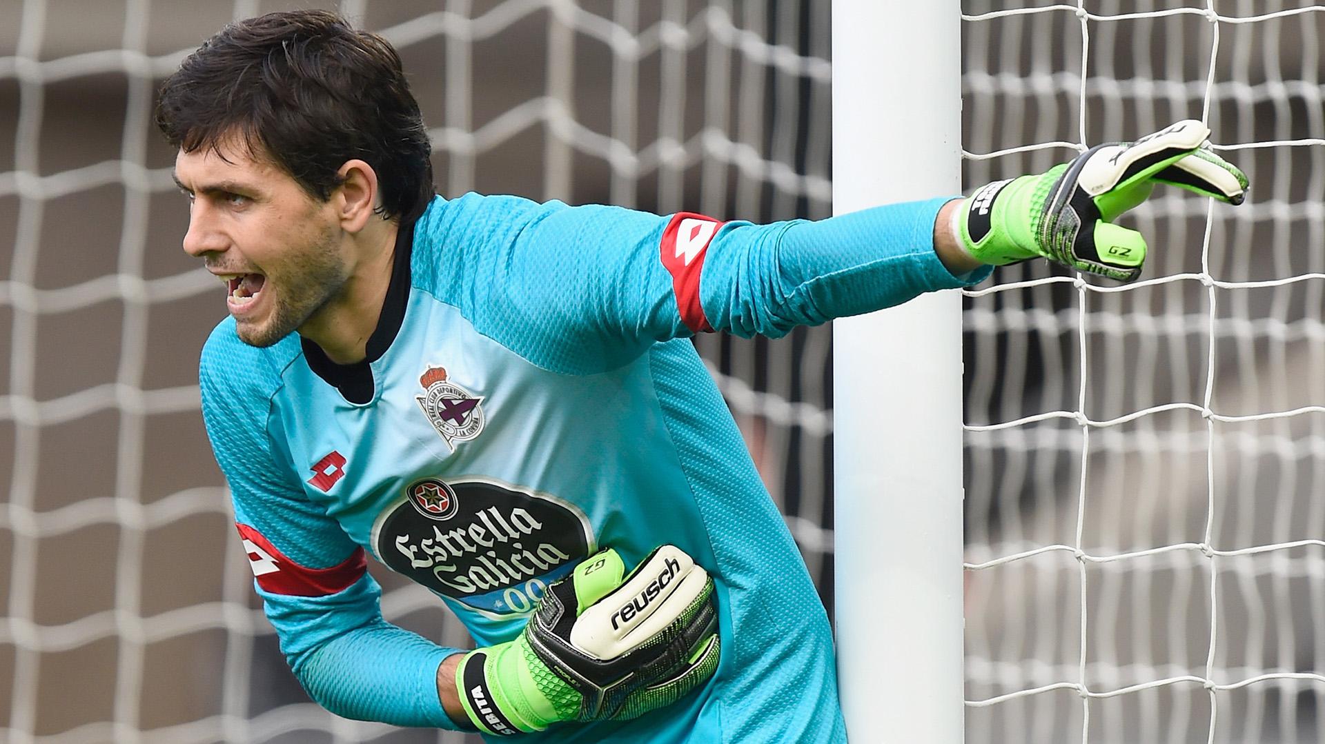 Germán Lux viene de atajar en el Deportivo La Coruña (Getty)