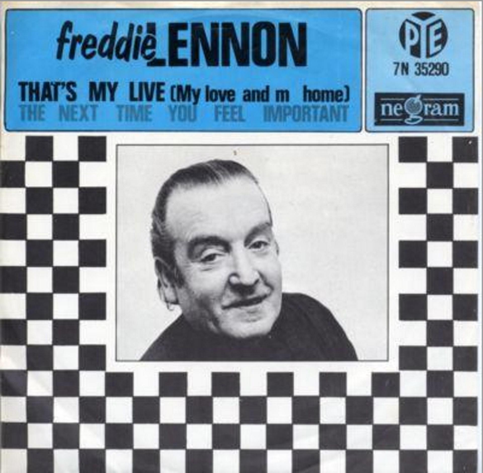 El simple que publicó Freddie Lennon en 1965