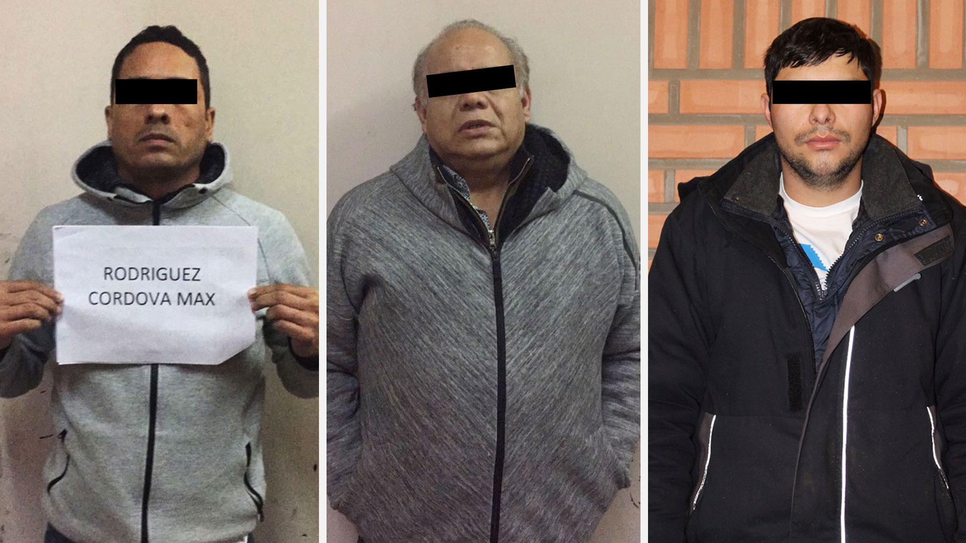 Max Rodríguez, Rodrigo Naged y Jesús Madrigal, los mexicanos detenidos en la trama.