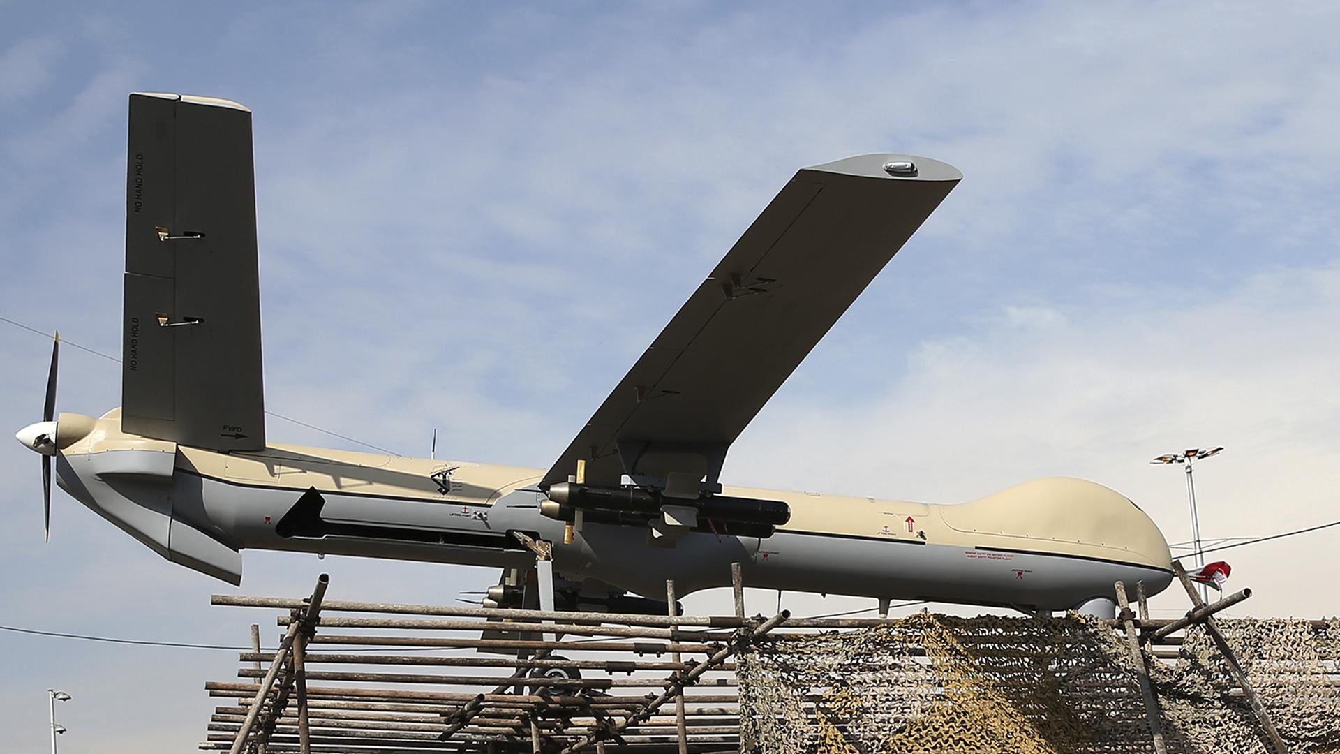 Un modelo dedrone utilizado por Irán. El país es una potencia en fabricación y operación de aviones no tripulados