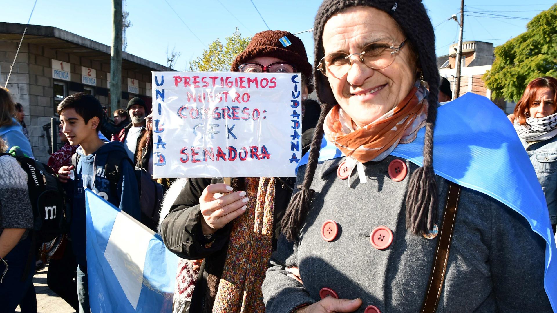 Fotos del acto de Cristina Kirchner en Arsenal