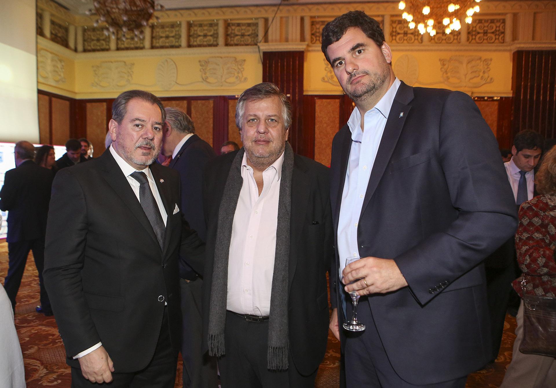 Mario Montoto, Carlos Stornelli y Eugenio Burzaco