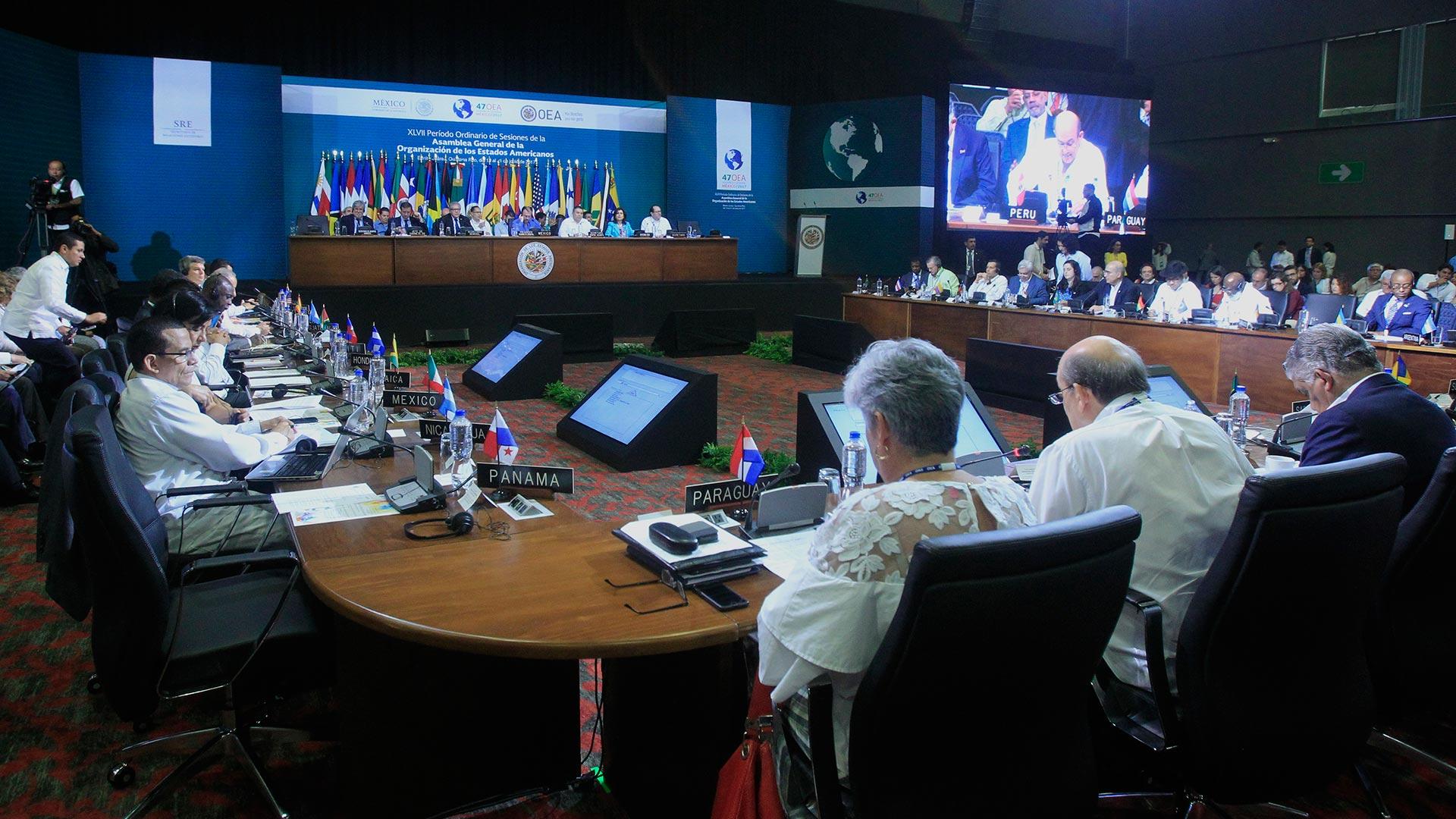 La Asamblea General de la OEA en Cancún (EFE)