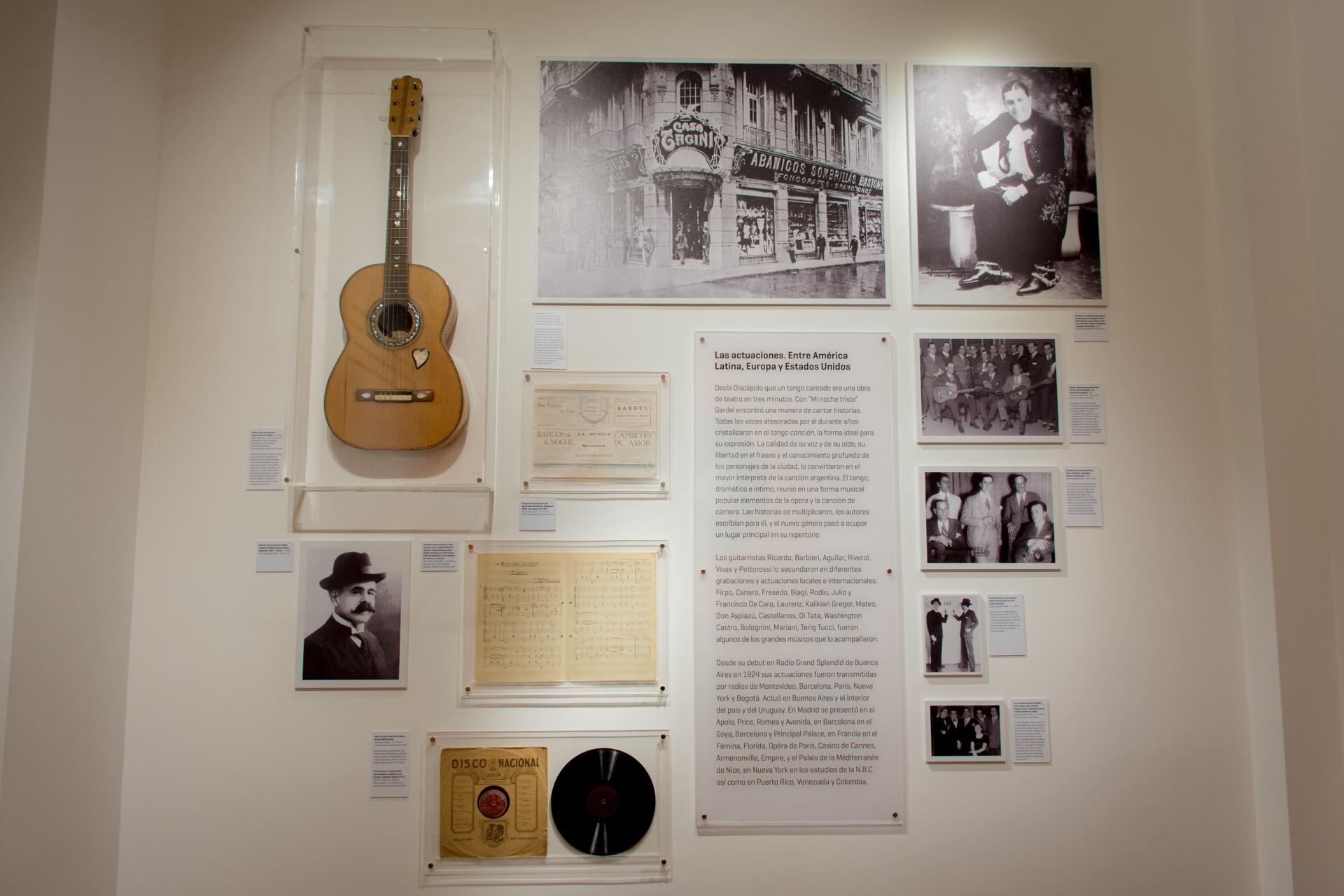 Etapa discográfica. Otra de las habitaciones del Museo Casa cuenta los primeros años de grabaciones de Gardel. (Martín Rosenzveig)