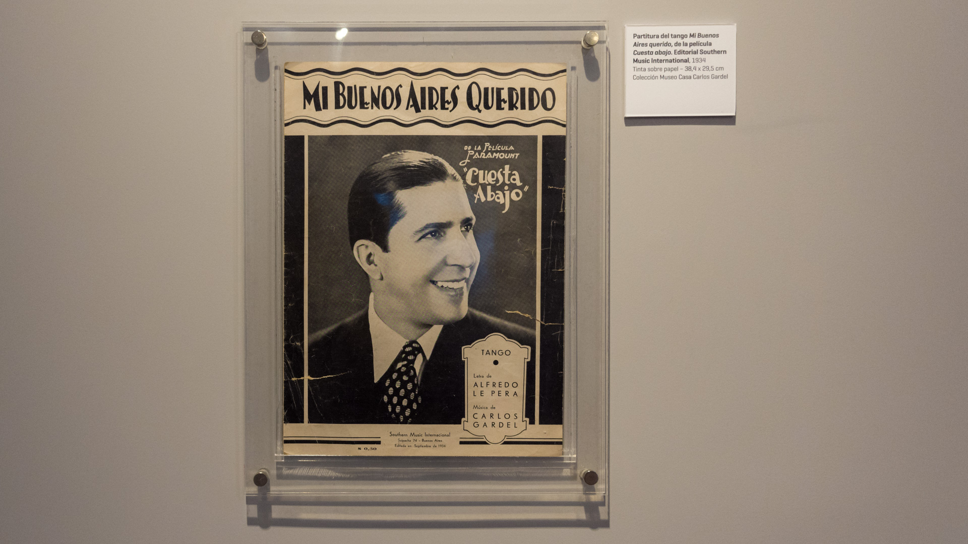 """Partitura original de """"Mi Buenos Aires querido"""". (Martín Rosenzveig)"""